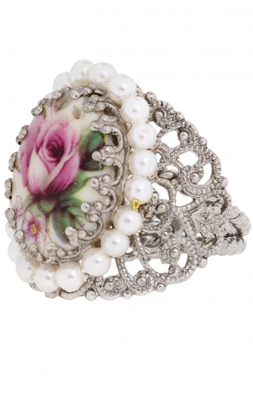 Anello gioielli, R801-rosa