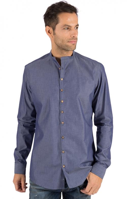 Camicia per Trachten Vestibilità HOLGER blu