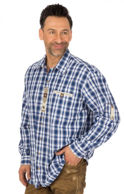 Camicia per Trachten a quadretti blu