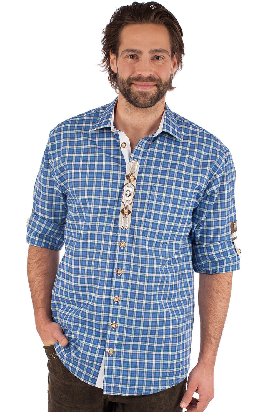 Camicia per Trachten Thommy blu von OS-Trachten