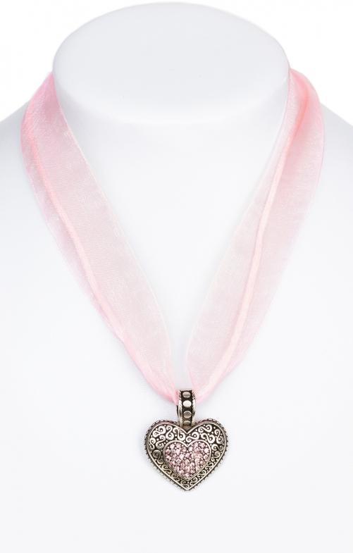 Collana con cuore 9631-CB rosa