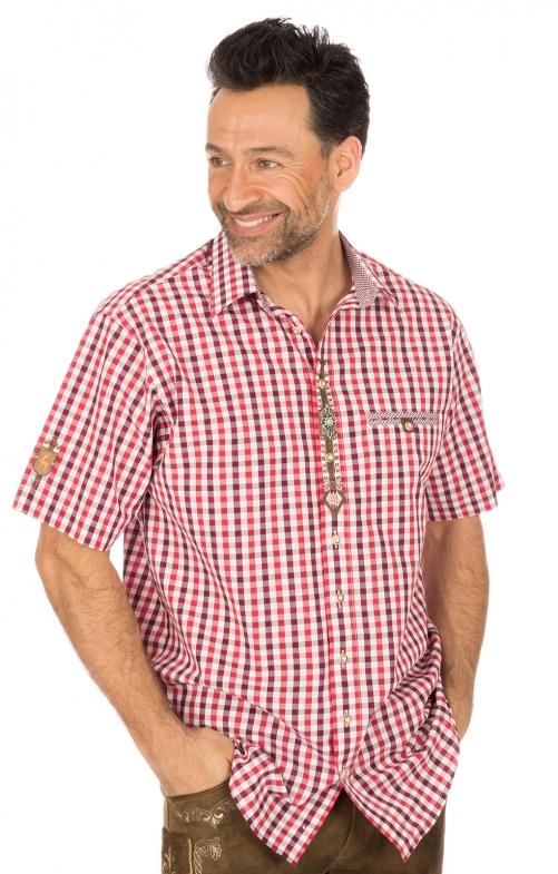 Camicia per Trachten mezzo braccio rosso