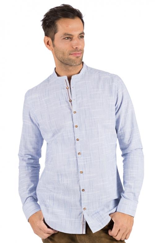 Camicia per Trachten Vestibilità HEIKO blu