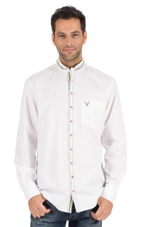 Camicia per Trachten Vestibilità 420002-2683-1 bianco verde