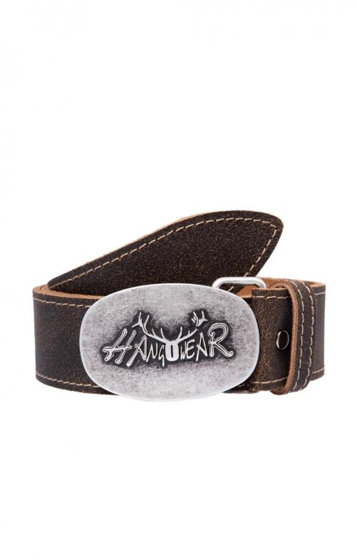nuovi stili risparmia fino all'80% buona reputazione Hangowear Cintura Trachten, fibbia con motivo con cervi 70926 marrone