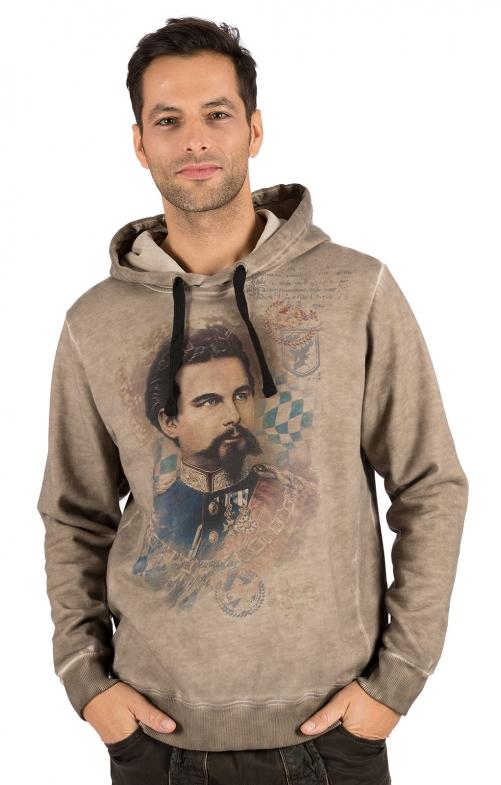 Tradizionale Hoody maglione RENZO marrone