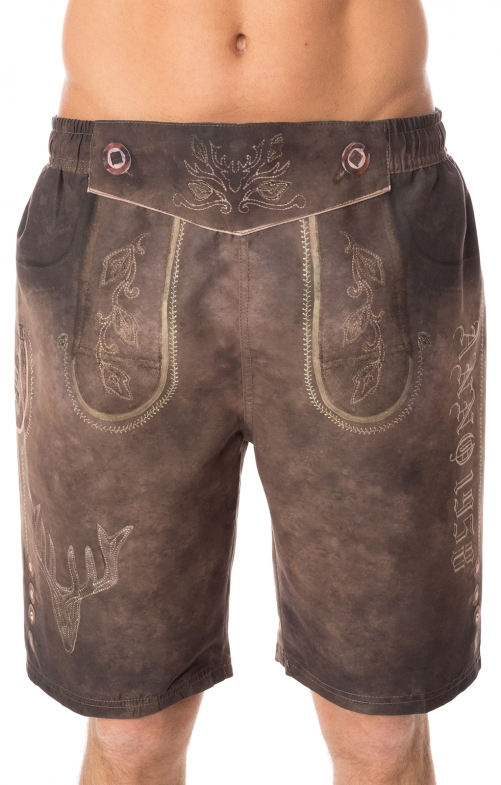 Pantaloni per il nuoto 94683-7 marrone