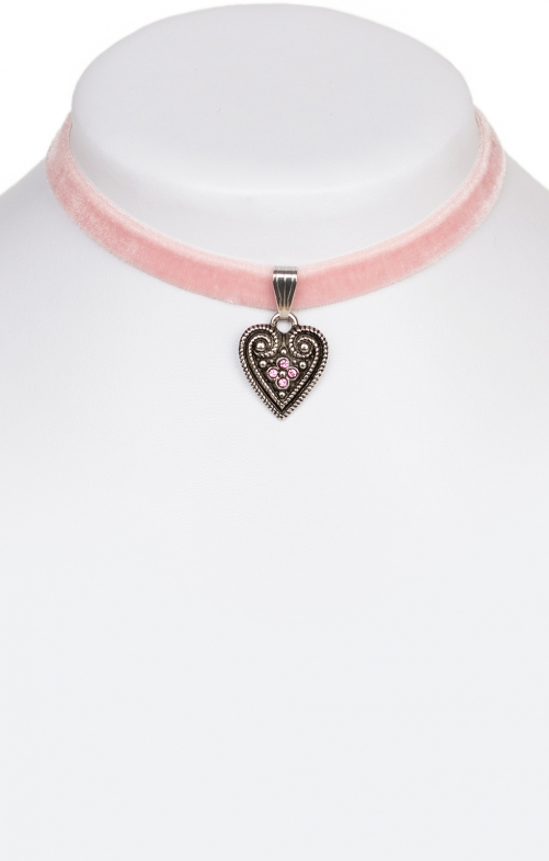 Collana con cuore 2044-SB rosa