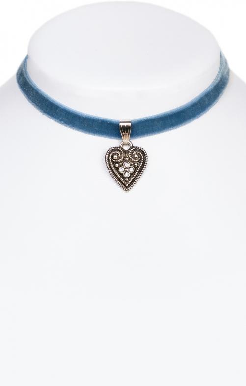Collana con cuore blu