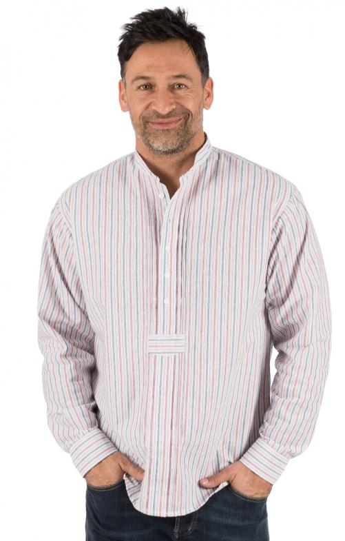 Camicia per Trachten Vestibilità LEON rosse blu