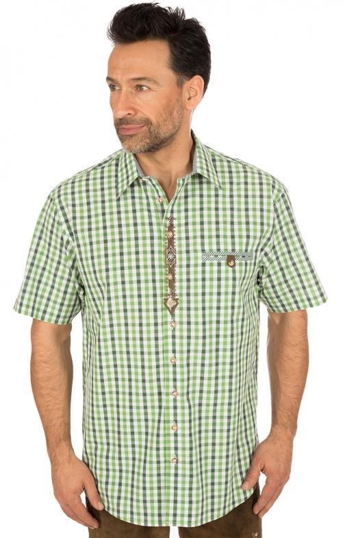 Camicia per Trachten mezzo braccio verde
