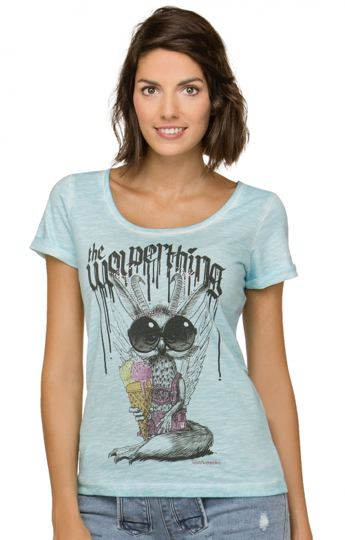 T-Shirt tradizionale WOLPERMADL turchese