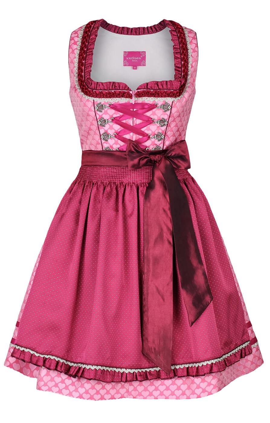 weitere Bilder von Mini Dirndl 2pz. Cayenne 50cm rosa