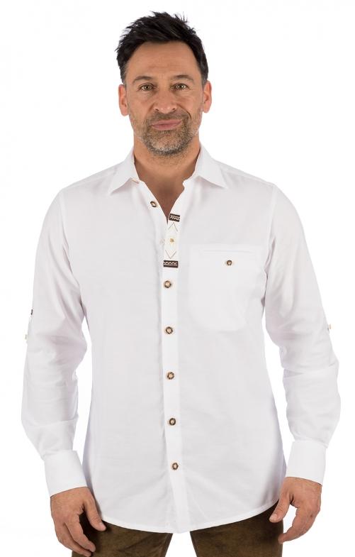 Camicia per Trachten MAXIMILIAN bianco