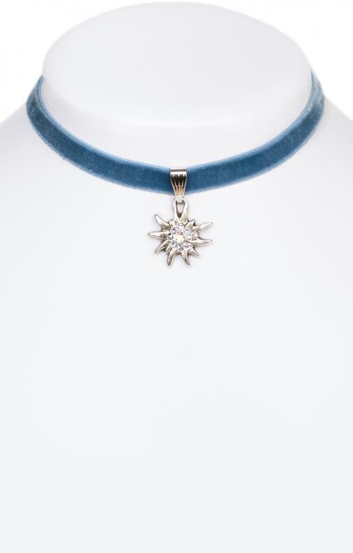 Collana con stella alpina 9197-SB blu