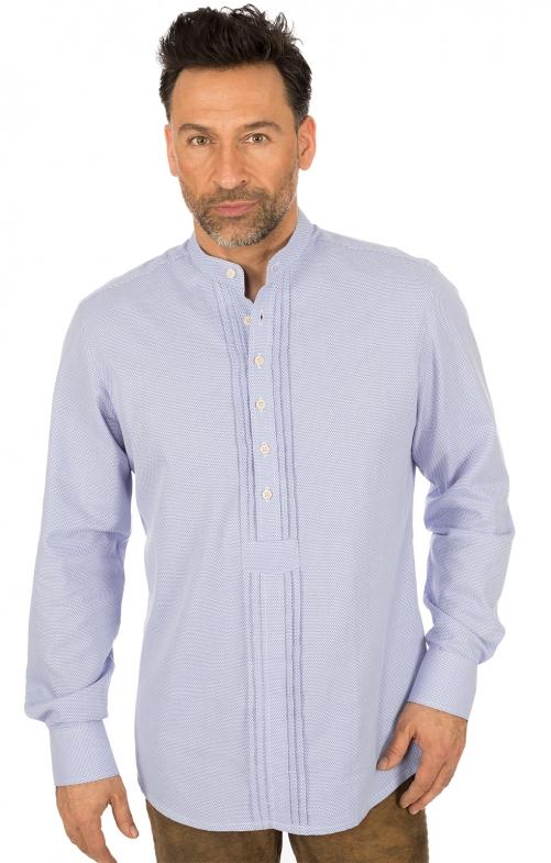 Camicia per Trachten Pfoad blu